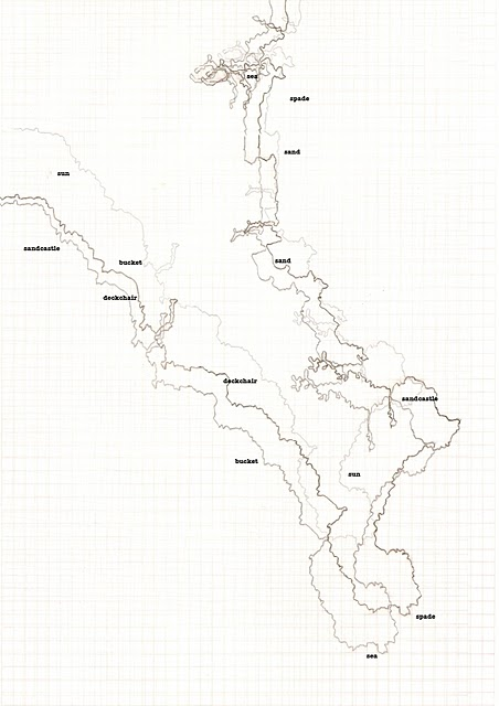 hand drawn map of cornish coastline
